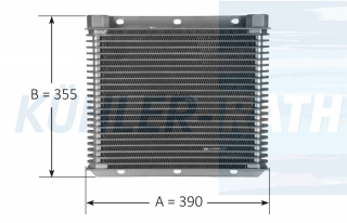 oil cooler suitable for Serie 3/Volvo/Zettelmeyer/Atlas 390x355x63 (22901892 02290189 04360335 02805