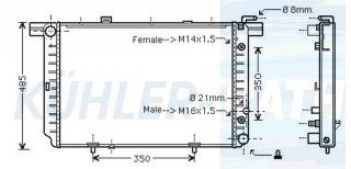 Wasserkühler passend für Mercedes-Benz (A1295001603)