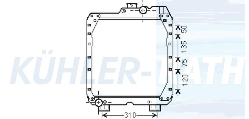Wasserkühler passend für Fiat/New Holland (05098910 212600)