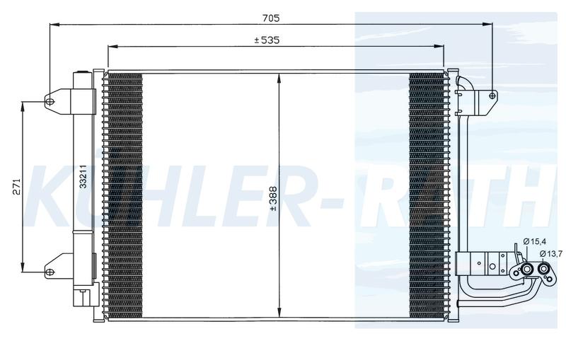 Kondensator passend für Audi/VW/Seat/Skoda (1K0820411G 1K0820411E 1K0820411F 1K0820411AH 1K0820411G