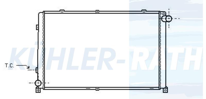Renault radiator (7701037136)
