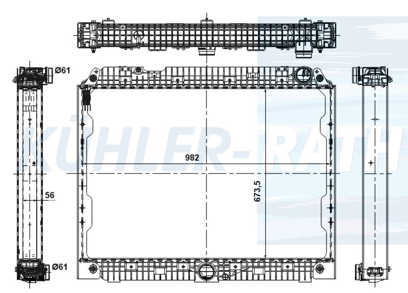 Mercedes-Benz radiator (9605002901 A9605002901)