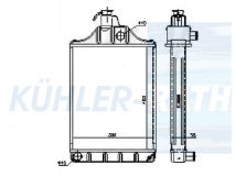 Massey Ferguson Wasserkühler (885411M92)