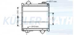 Renault/Claas radiator (7700049958)