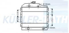 Renault/Claas radiator (7700047575)