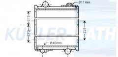 Renault/Claas Wasserkühler (7700055181)