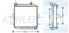 Deutz radiator (04411151EB 04438384 0443838410)