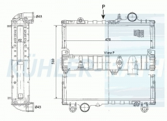 John Deere radiator (AL64324 AL66774)