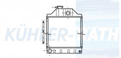 Massey Ferguson Wasserkühler (3029261M91 166597)