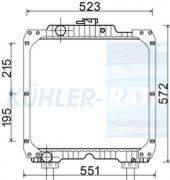 Case IH/New Holland radiator (5099122 84172100 234700)