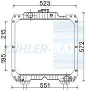 New Holland/Case IH radiator (84175586 87681422 87681423 84250074 87610780 87637729)