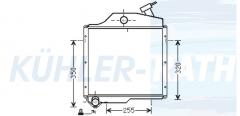 Zetor Wasserkühler (72011314)
