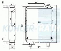 Fiat/New Holland/Ford radiator (82013307 82008038)