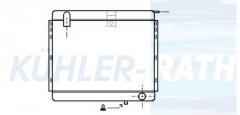 Mercedes-Benz radiator (3185000802 3185002002 3185000902 A3185000802 A3185002002 A3185000902)