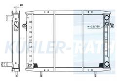 Wasserkühler passend für RVI (5000397635 5000294640)
