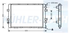Wasserkühler passend für RVI (5010382645 5010435102 732569 5001849741)