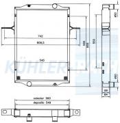 Wasserkühler passend für RVI (5010269003 5001838872)