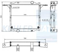 Wasserkühler passend für RVI (5010283203 5001845917)