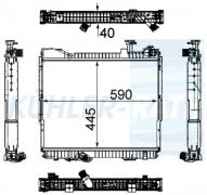 Wasserkühler passend für Nissan (21400MB41C 21400MD41C 21410MB40C)