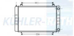 DAF/Austin radiator (AAR6002 BTP1786)