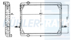 MAN/VW radiator (81061016195 600121251A 11738200 81061016153)