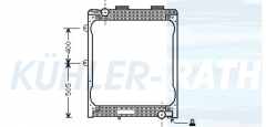 MAN radiator (81061016439 81061016421)