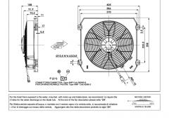 Comex 24V drückend mit Gehäuse fan (F3624L820103B F36-24L8201-03B)