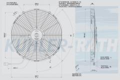 Spal 24V ziehend Ø 414 fan (VA18BP141MA VA18-BP1-41MA)
