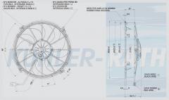 Spal 24V drückend Ø 331 fan (VA01BP70LL79S VA01-BP70/LL-79S)