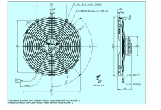 Spal 24V ziehend Ø 385 fan (VA08BP70LL23MA VA08BP123MA VA08BP7023MA VA08-BP70/LL-23MA VA08-BP1-23MA