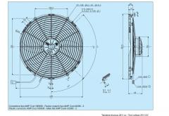 Spal 24V drückend Ø 414 fan (VA18BP71LL42S VA18BP1342S VA18-BP71/LL-42S VA18-BP13-42S)