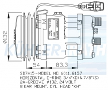 Sanden/Komatsu/MAN/Volvo Kompressor (81619066010 51779707014 51779707011 48845017 51779707025 SD7H15
