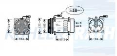 DAF Kompressor (1444295 1251063 1264800 1637734 1638737 1638737R 1815582 SD7H158182 SD7H157856 SD7H1