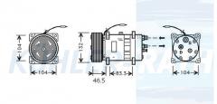 Volvo compressor (8142555 8113625 8119625 SD7H157834)