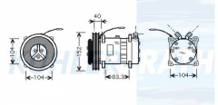 Claas Kompressor (6259932 6259940 0006259932 0006259940 7700037805 625.993.2 625.994.0)
