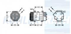 Sanden/Scania Kompressor (1376999 1412264 1888035)