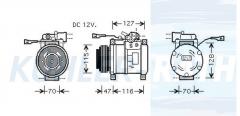 Iveco Kompressor (504014391 504277234 504384698 4472207851 447180490)