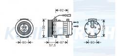 DAF Kompressor (1685170 1685170R 1815581 1815581R 1864126 1864126R SD7H158231 SD7H156048 SD7H154002)