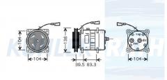 Iveco/Sanden Kompressor (98462948 SD7H157948)
