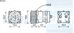 Massey Ferguson/Landini/McCormick Kompressor (15082744)