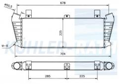 RVI intercooler (5000398275)