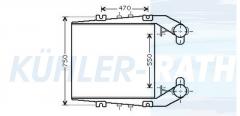 RVI intercooler (5430121530 5001831760 5010213198 5010230038)