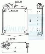 Liebherr oil cooler (36420722001 122225612 1618313 96420722001)