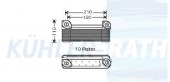 Mercedes-Benz/Evobus oil cooler (4221880001 4221800001 83119994520 A4221880001 A4221800001)