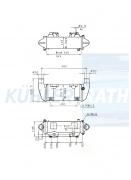 Voith/Mercedes-Benz oil cooler (6564300088 A6564300088 67307122 67307123)