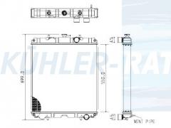 Atlas Copco/Perkins/Kubota/Yanmar Wasserkühler