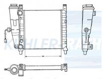 Fiat Wasserkühler (7556134 7570401 5968727)