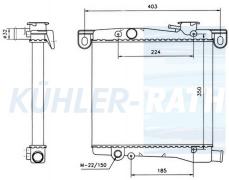 Fiat Wasserkühler (5882355 4371908 SE127117001A)