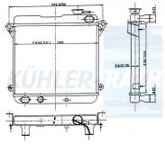 Fiat Wasserkühler (4383791 4297468 4234527)