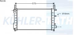 Ford Wasserkühler (92FB8005AA 92FB8005BB 7304940)